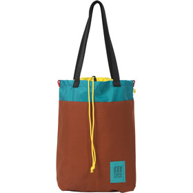 Topo Designs Cinch Tote, clay/turquoise